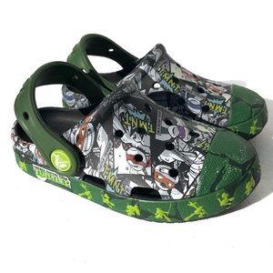 TMNT Teenage Mutant Ninja Turtles crocs size 10